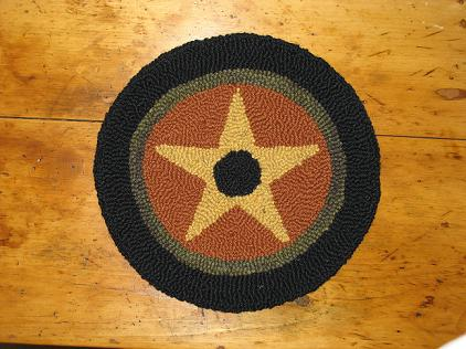 Autumn Star Kit (14&quot; Round)-Woolen Gatherings needle punch rug hooking patterns to comfort and inspire