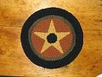 "Autumn Star Kit (14"" Round)-Woolen Gatherings needle punch rug hooking patterns to comfort and inspire"