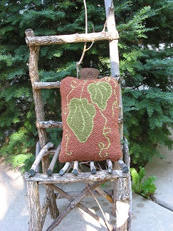 Big Tom Bumble Pillow-Rug Punch, home décor, wool rug yarn, patterns, fall pillow