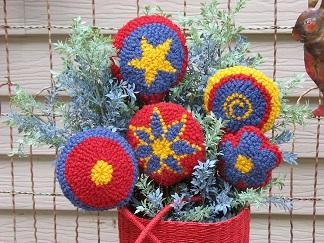 Flower Bouquet-Wool rug punch, home décor, fiber arts
