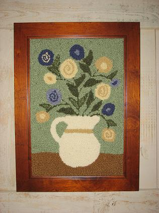 """(12"""" x 18"""") From Grandma's Garden Kit-Woolen Gatherings needle punch rug hooking patterns to inspire and comfort."""