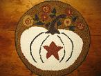 "Harvest Blooms Kit (14"" Round)-Woolen Gatherings needle punch rug hooking patterns to comfort and inspire."