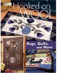 Book - Hooked on Wool Rugs, Quilts, and More-Hooked on Wool idea and project book for needle punch rug hooking