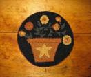 "Pot of Gold Kit (14"" Round)-Woolen Gatherings needle punch rug hooking patterns to comfort and inspire."