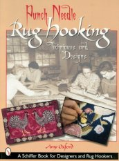 Book - Punch Needle Rug Hooking Techniques and Designs-Rug hooking, idea book