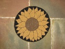 "Sunflower Burst Kit (14"" Round)-Wool rug punching, fiber art projects, craft patterns"