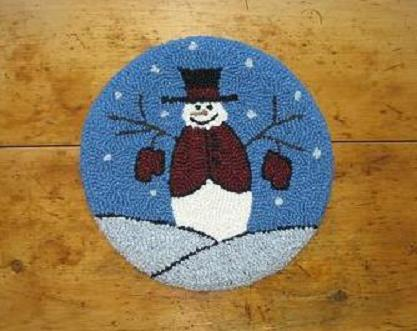 """Walter Kit (14"""" Round)-Woolen Gatherings needle punch rug hooking patterns to inspire and comfort."""